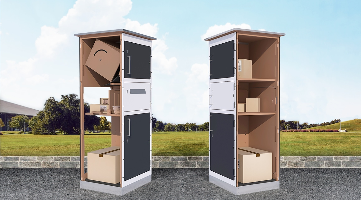 paketbox mit drehkasten paketfach ber 200 farben. Black Bedroom Furniture Sets. Home Design Ideas
